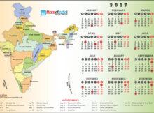 September Calendar India