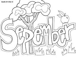 September Clipart Black and White