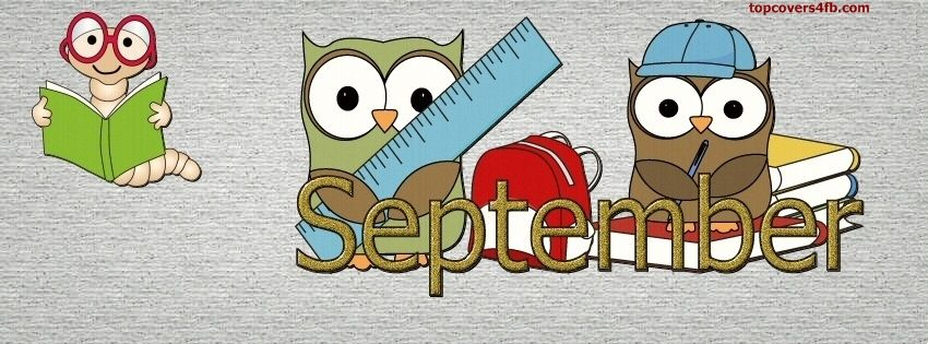 September Facebook Cover Clipart