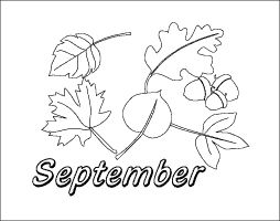 September Pictures To Color