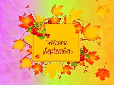 Welcome Ninth Month September Autumn Images