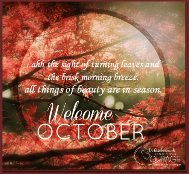 Welcome October Inspirational Quotes