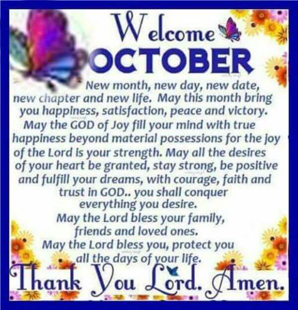Welcome October Quotes Messages Wishes Status