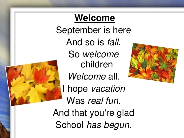Welcome September Pictures and Quotes