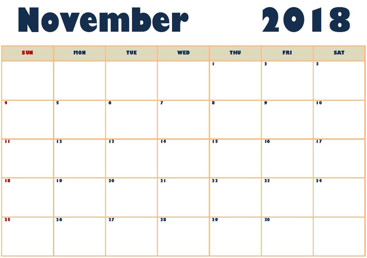 2018 November Calendar Marathi