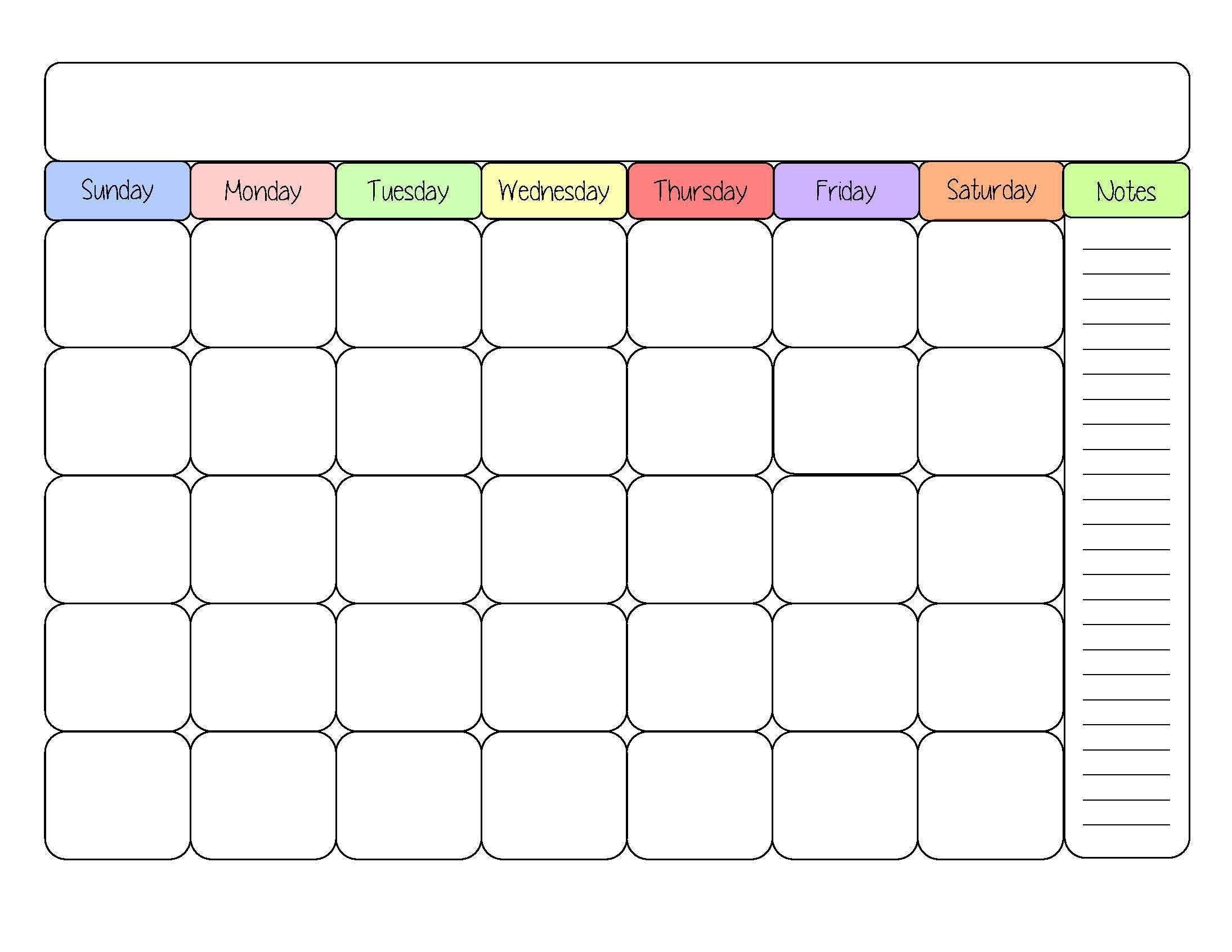 December 2018 Blank Calendar Monthly Planner