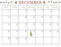 December 2018 Calendar For Kids