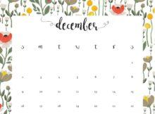 December 2018 Desk Printable Calendar