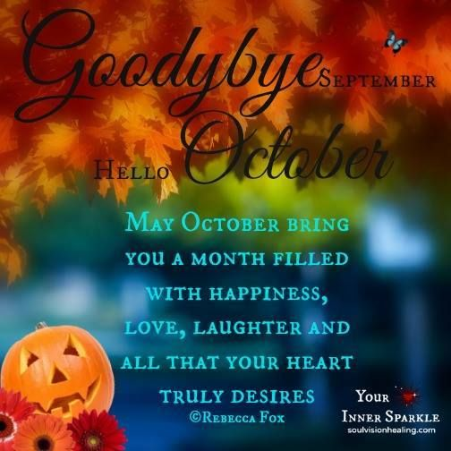 Goodbye September Hello October Pics Quotes