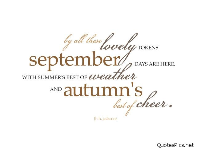 Goodbye September Hello October Quotes For Calendars