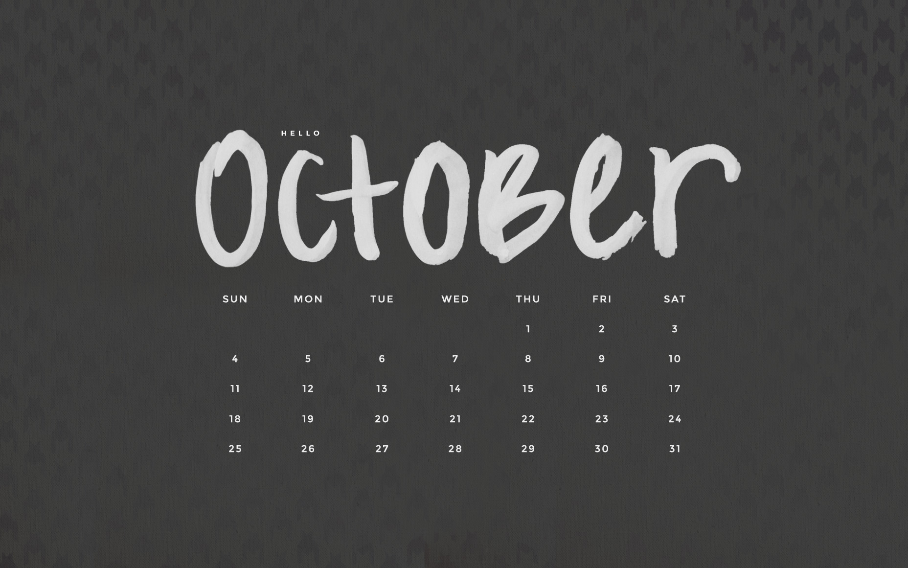 Hello October Calendar Wallpapers