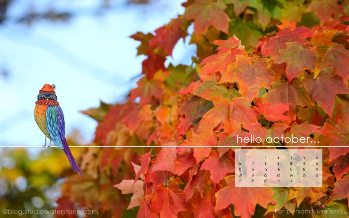 Hello October Month Wallpapers for Desktop