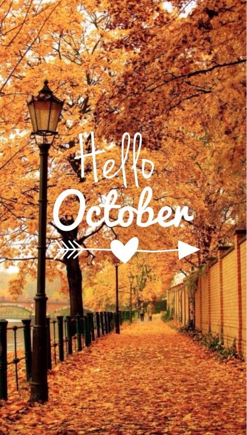 Hello October Tumblr Autumn Fall