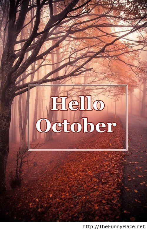 Hello October Wallpapers on Pinterest