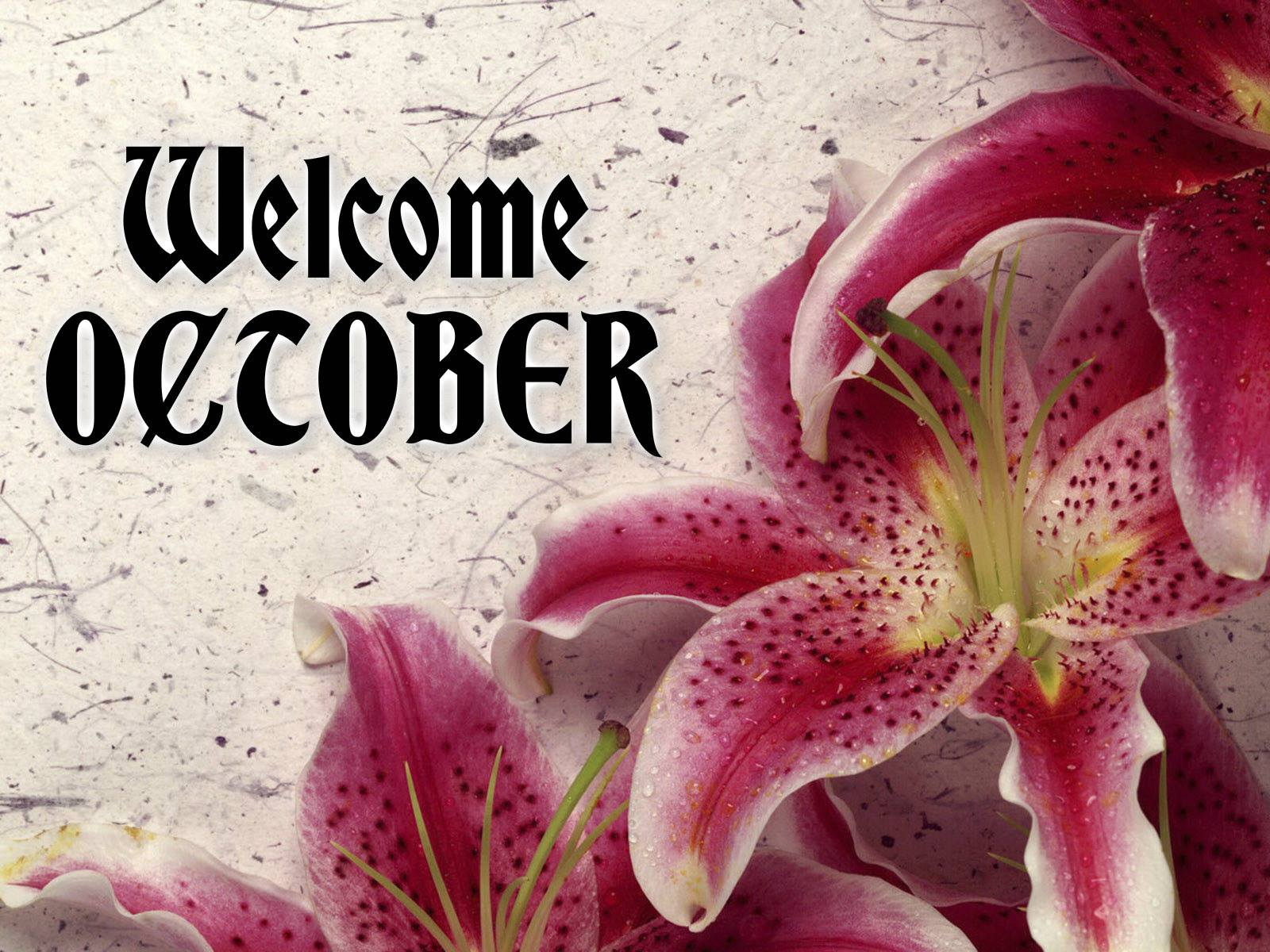 Month of October Welcome Pictures