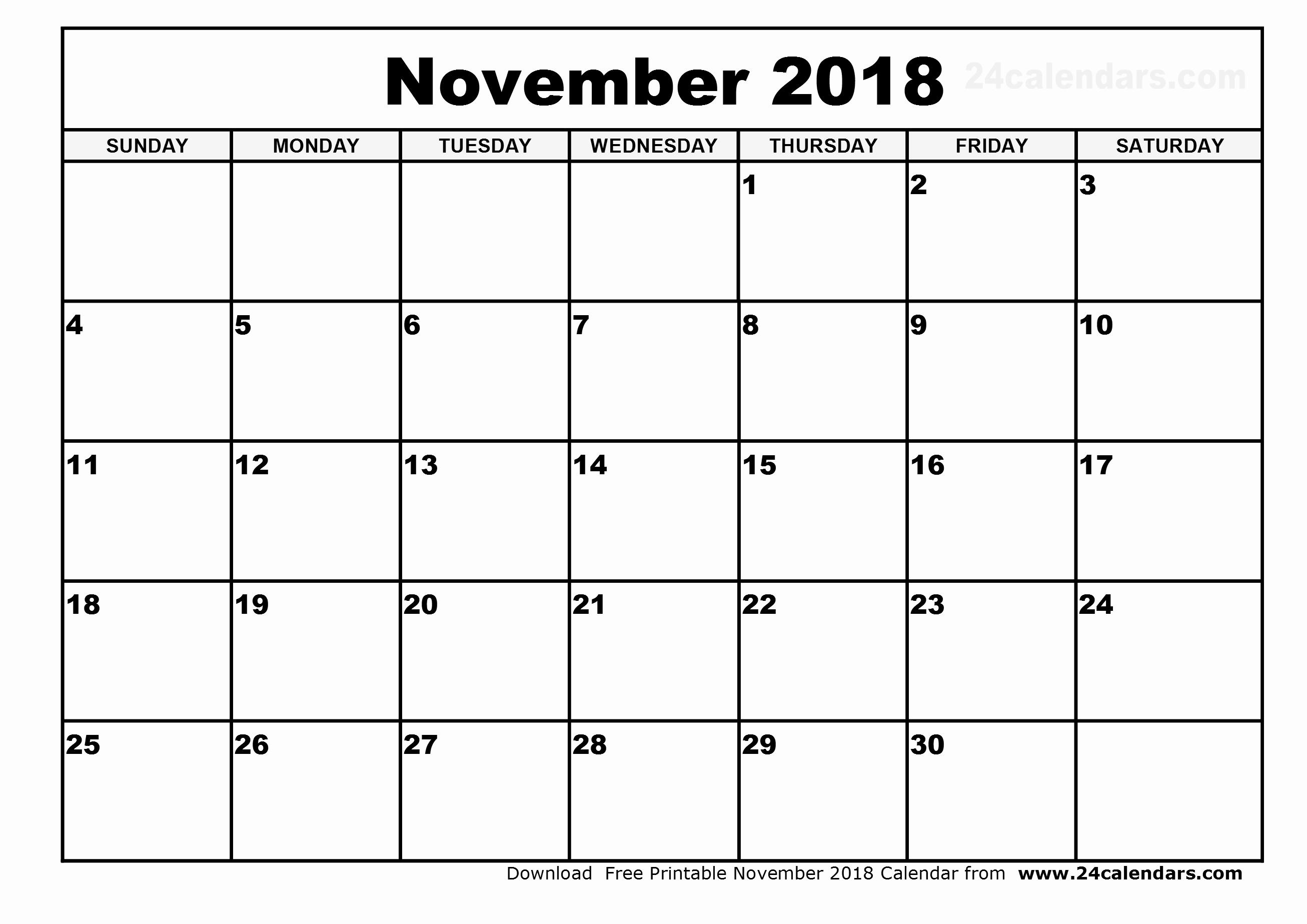 November 2018 Calendar Maha Laxmi