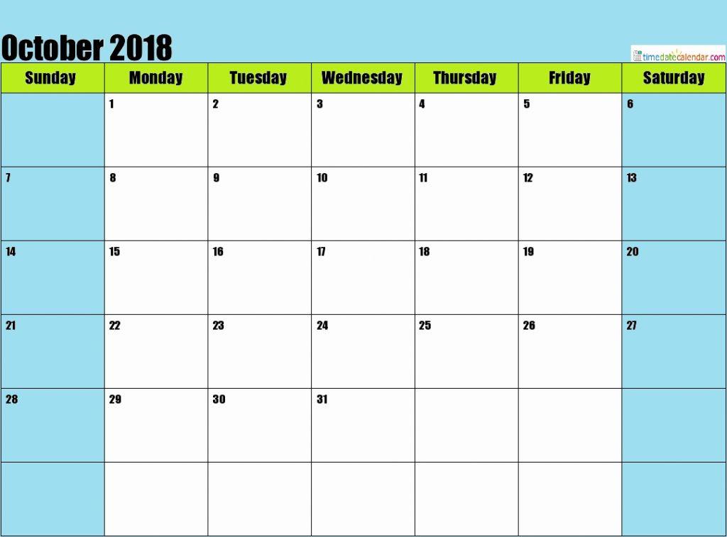 October 2018 Malaysia Calendar