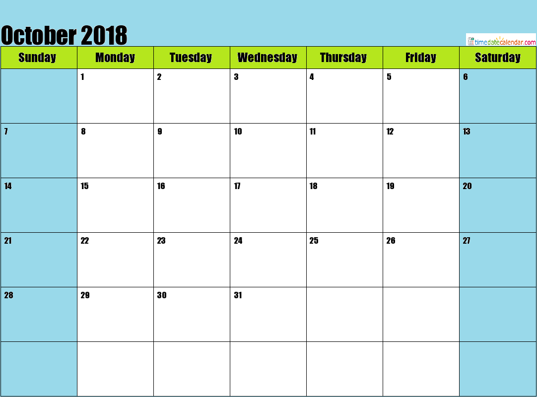October 2018 Philippines Calendar