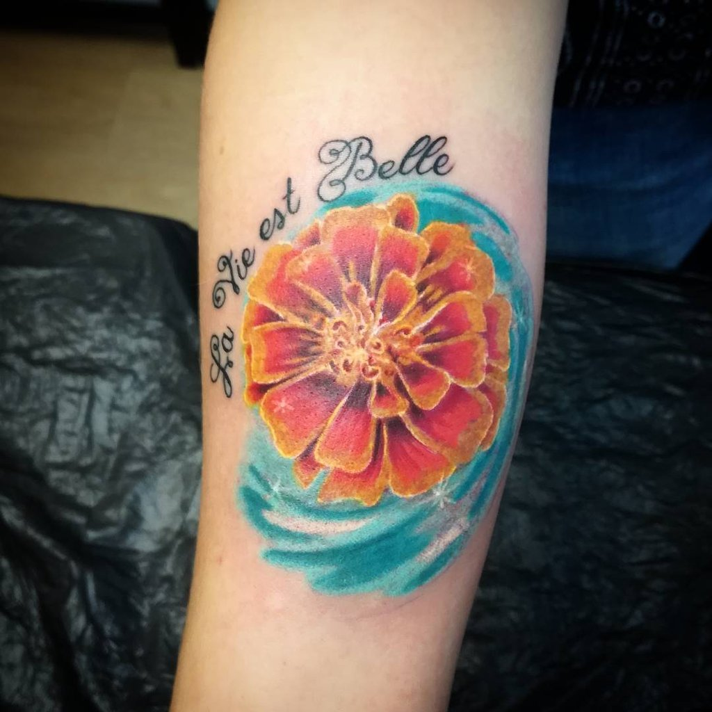 October Birth Flower Tattoo