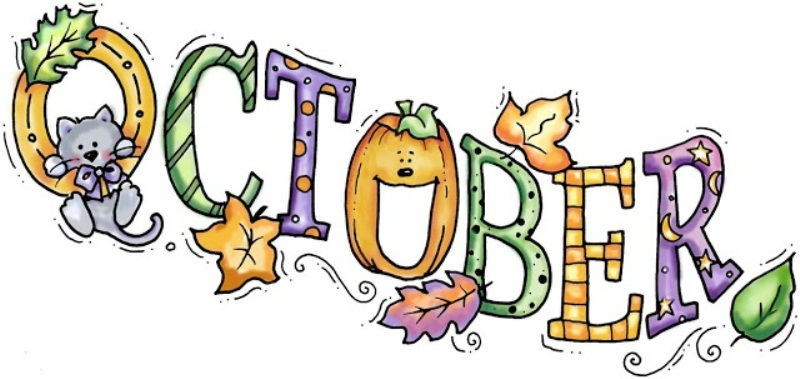October Month Pictures Clipart Border