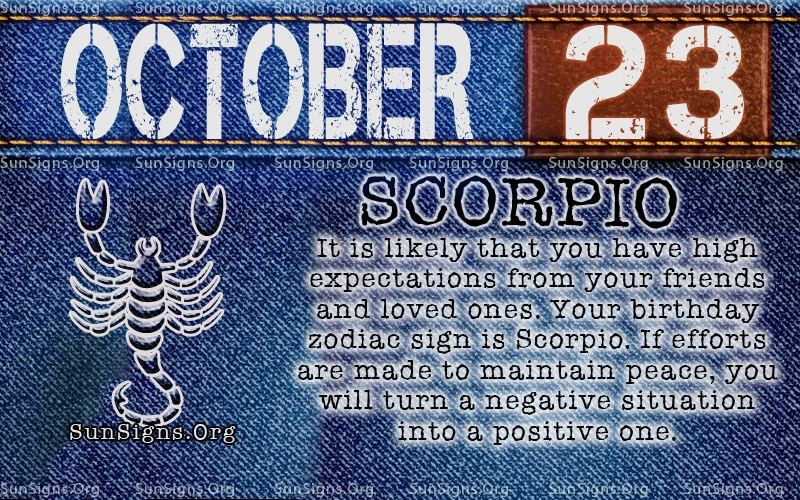 October Zodiac Sign Meaning