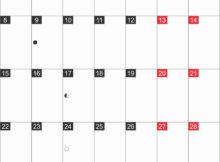 Portrait Calendar October 2018
