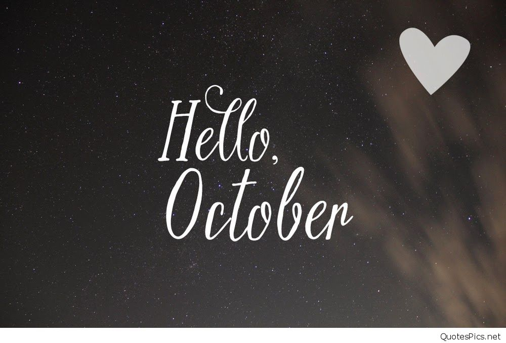 Stars Night Hello October Wallpaper