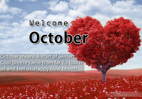 Welcome October Pictures Quotes SMS