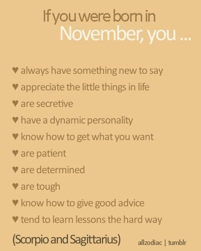 Born in November Quotes Pictures