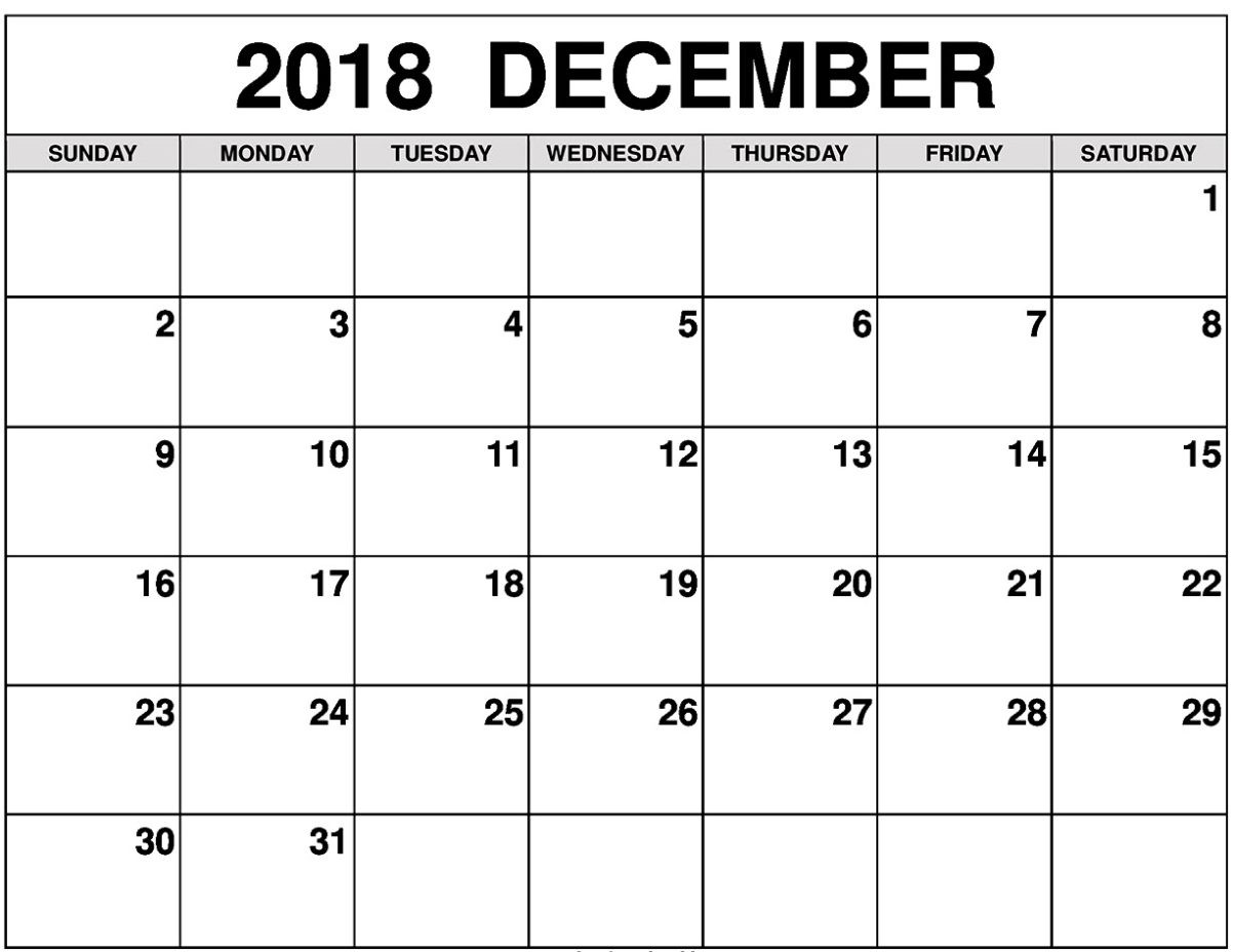 December 2018 Calendar Planner Images Download