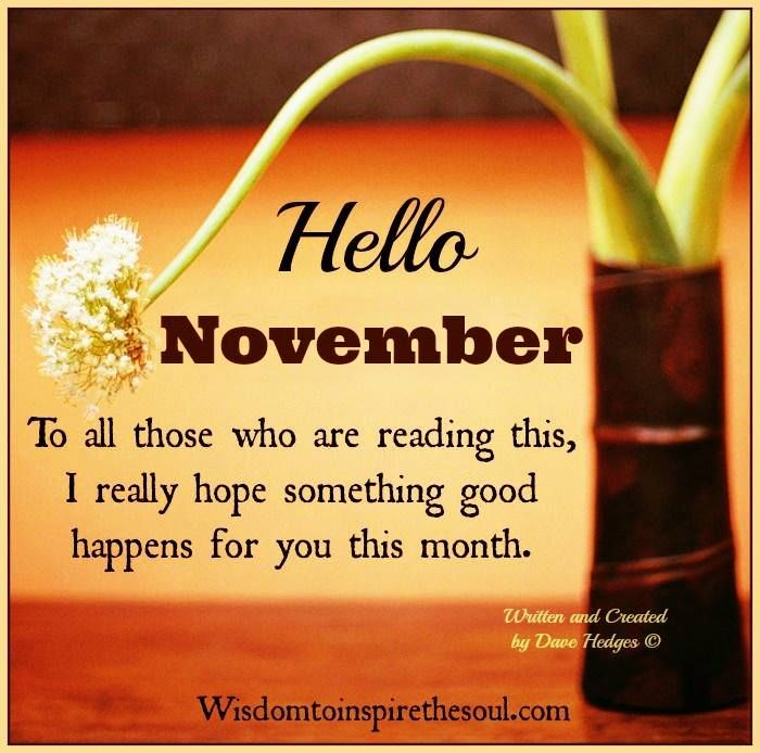 Free Download Welcome November Quotes