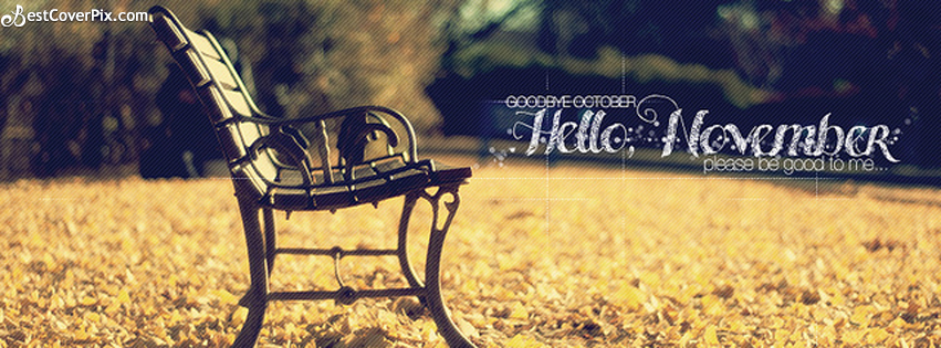 Goodbye October Hello November Facebook Cover Photos