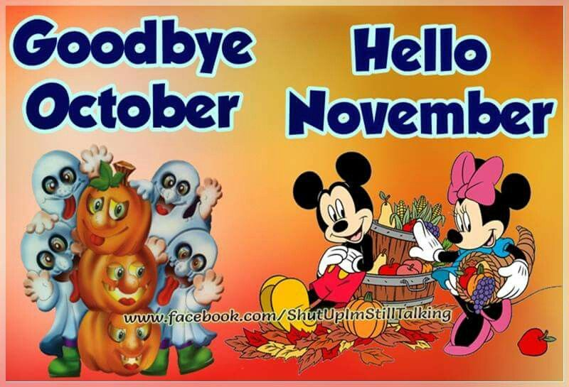 Goodbye October Hello November Funny Photos