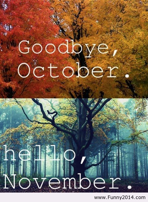 Goodbye October Hello November HD Wallpaper