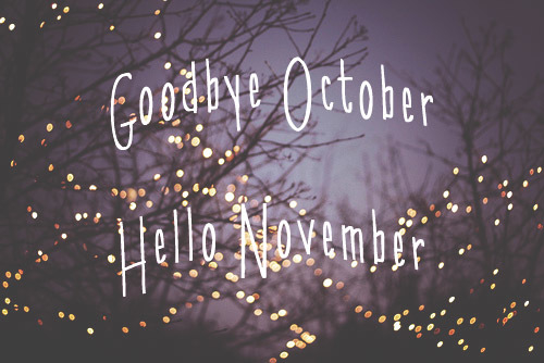 Goodbye October Hello November Images Free