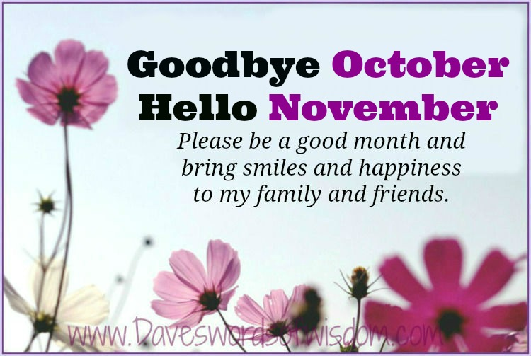 Goodbye October Hello November Photos Quotes