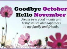 Goodbye October Hello November Photos Quotes