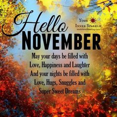 Goodbye October Hello November Quotes Inspirational