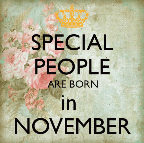 Happy Birthday November Greetings Wishes Images