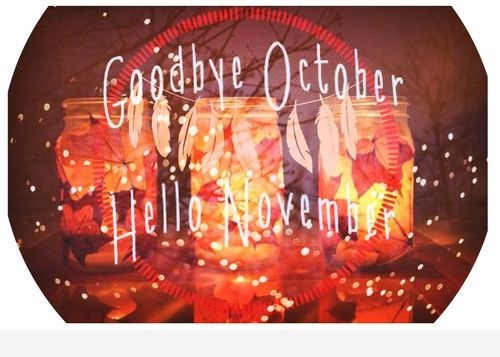 Happy Goodbye October Hello November Images, Quotes
