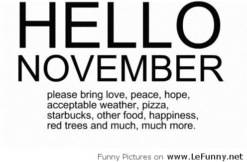 Hello November Quotes Messages