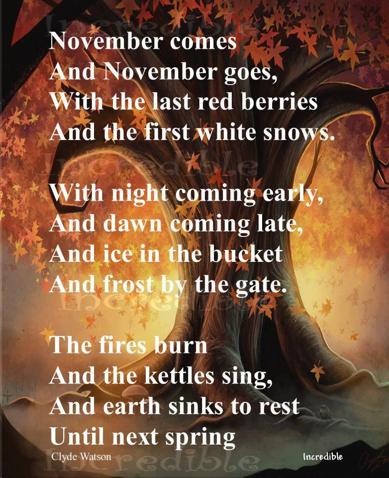 Hello November Quotes and Sayings Images
