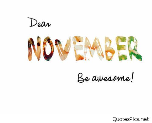 Hello November Sayings