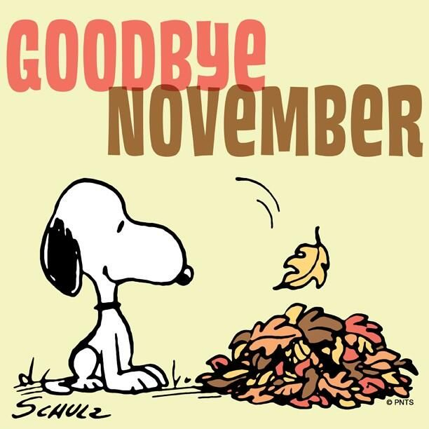 Hello November Snoopy Funny Clipart
