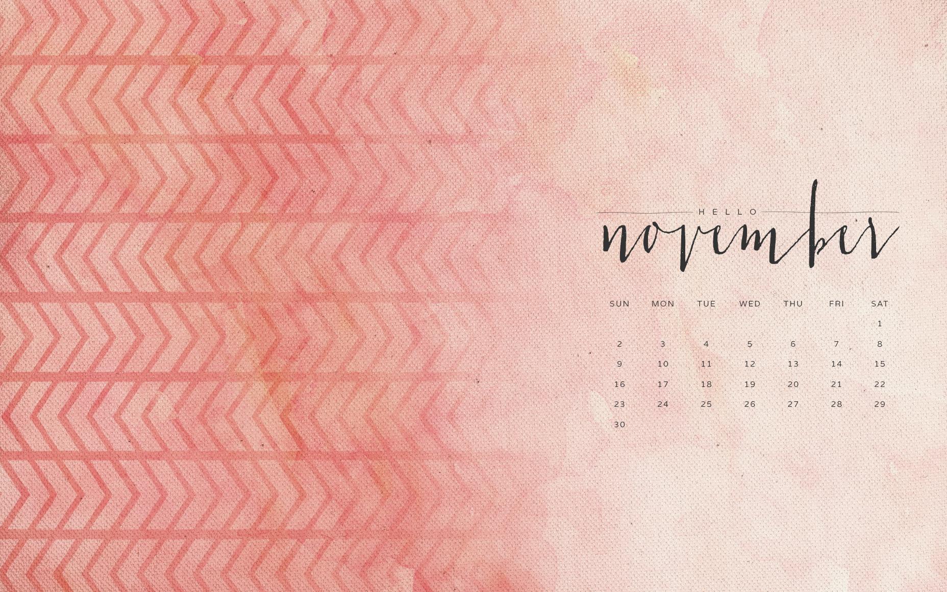 Hello November Wallpapers Calendars