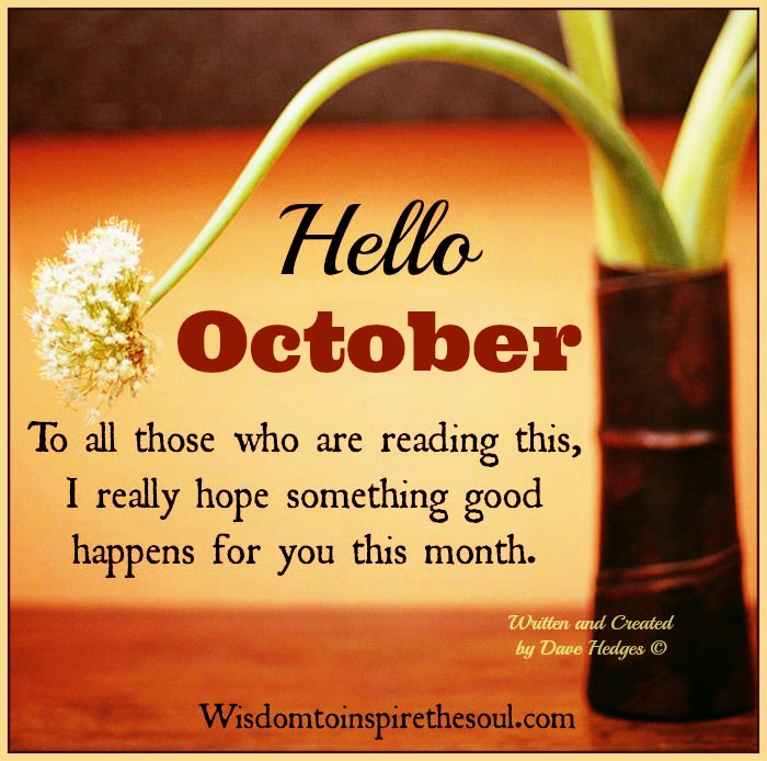 Hello October Tumblr Quotes Images