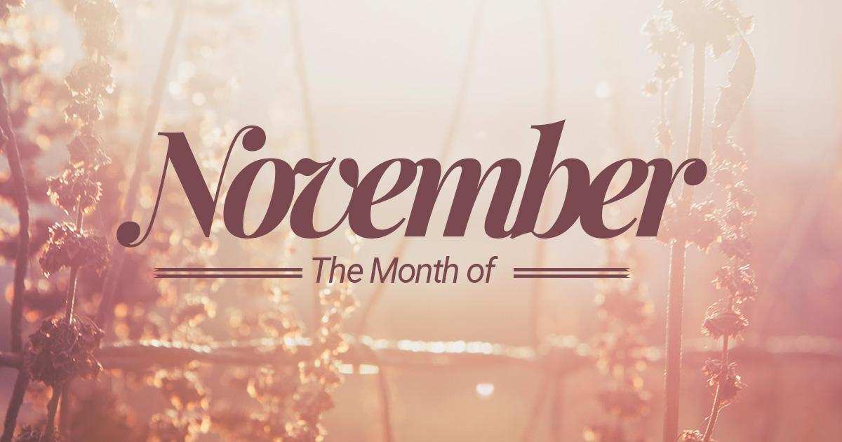 Month of November Pictures