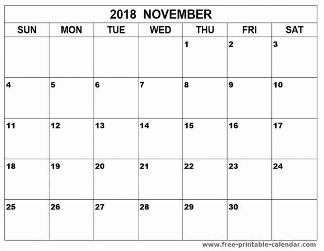 November 2018 Philippines Calendar