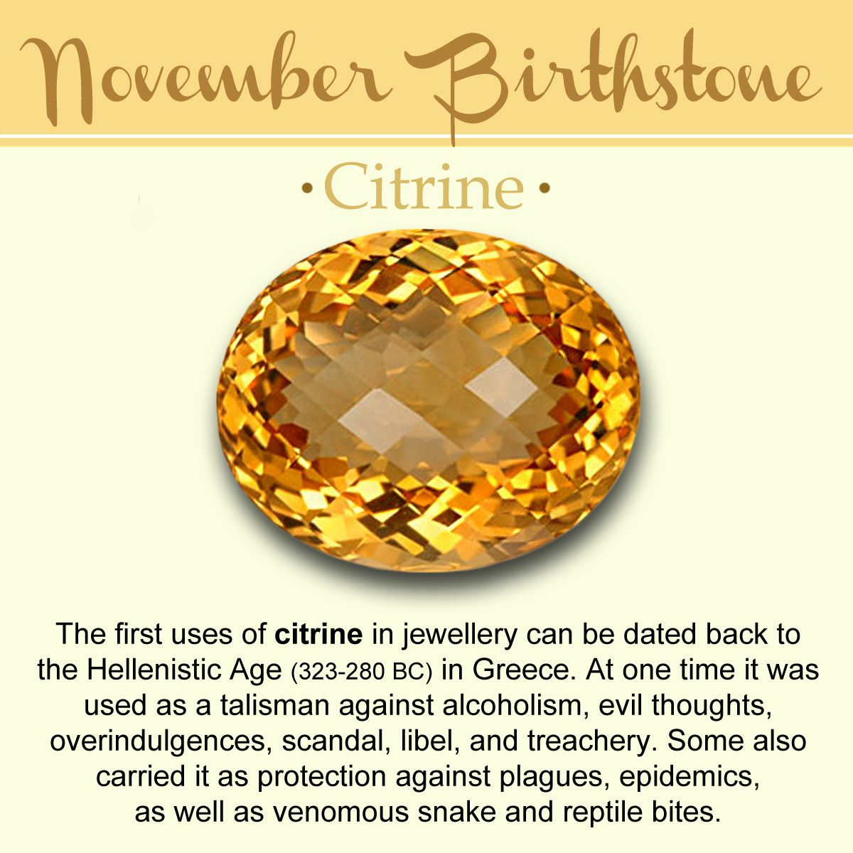 November Birthstone Citrine Meaning