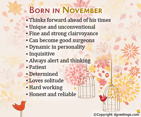 November Born Photos and Quotes